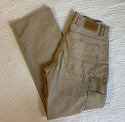 Schmidt Workwear Khaki Work Pants Men Size 32x34 Boot But Jeans Carpenter
