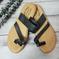 Kork Ease Size 7 Sandals Black Leather Strappy Womens 009