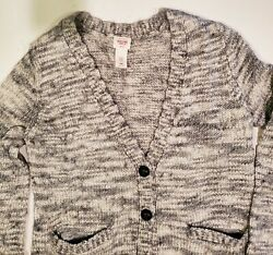 Mossimo Wool Blend Marled Gray & White buttonfront Cardigan SWEATER size 2XL