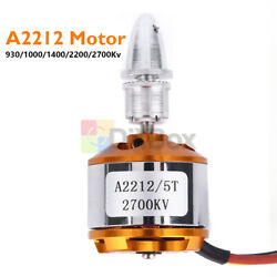 A2212 930 1000 1400 2200 2700KV Brushless Drone Outrunner Motor Fo RC Helicopter $4.03