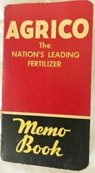 1954 AGRICO The Nation#x27;s Leading Fertilizer MEMO BOOK With Interesting Notes $4.99