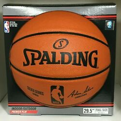 ORIGINAL Spalding Official Basketball The NBA Full Size 29.5quot; Silver Series Lot $43.01