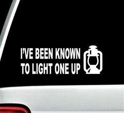 Light One Up Funny Lantern Decal Sticker Camping Camper Dietz Oil Lamp Feuerhand $4.39