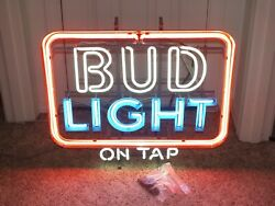 NEW OLD STOCK RARE Budweiser on Tap neon commercial sign ships free