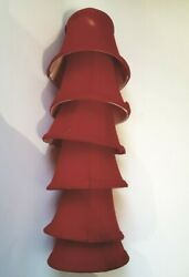 Six Red Chandelier Lampshades 4quot;H One Has Flaw $25.00