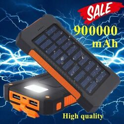 2020 Waterproof Solar Power Bank 900000mAh Portable External Battery Charger US $24.95