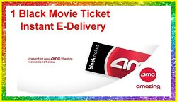 1 Black Movie Ticket 1 Large Popcorn 1 Drink AMC Theaters. delivered instantly $12.00