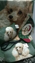 White Poodle CollectionTapestry Throw Pillow Tote amp; StockingL.Pickens Design $50.00