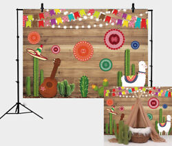 Mexican Fiesta Wood Board Theme Backdrop Party Decor Banner Photography Backdrop $8.39