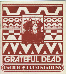 Grateful Dead 1972 Backstage Pass Pig Pen