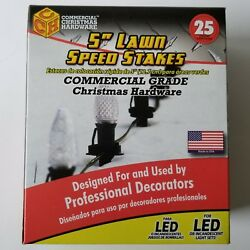 Commercial Christmas Hardware 5quot; Lawn Speed Stakes 25 Count for Outdoor Lights