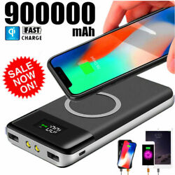 Qi Wireless Power Bank 900000mAh Backup Fast Portable Charger External Battery $19.95