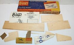 Quick 8 Up Scale Model Balsa Wood Airplane Vintage F9F Panther Jet Die Cut 5 16 $17.99