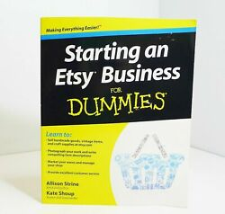 Starting an Etsy Business for Dummies Paperback Book by Allison Strine $12.00