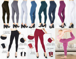 PLUS SIZE Womens Ladies Pencil Seamless Stretchy Full Length Leggings Office New GBP 5.59