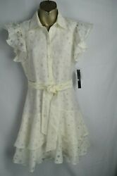 Elie Tahari Womens Star Ivory Cocktail Dress 2 NEW Fit n Flare Work $119.00 $34.99