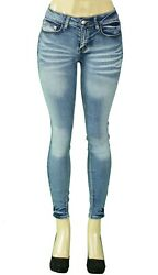 High Waist Push Up Stretch Colombian Style Butt Lifting Skinny Jeans M. BLUE 102 $21.99