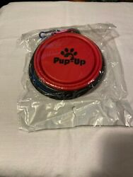New Pup Up Collapsible Pet Travel Bowls With Carabiner Clip Set Of 2 NEW $10.00