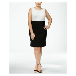 Connected Apparel Women Dress Pearl Lace Tiered Cocktail Plus Size 14 W $40.40