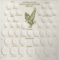 Capital Holder 19th amp; 20th Century Type All US Coin White Display Coin Case New $80.90