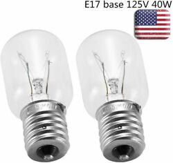 2Pack Light Bulb for Whirlpool Microwave E17Base 125V 40W Replace Part# 8206232A $7.99