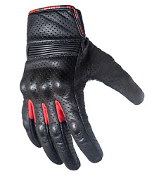 Leather Motorcycle Gloves with Armored Knuckles $15.99