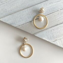 Givenchy Vintage Gold Crystal Pearl Clip Earrings $145.00