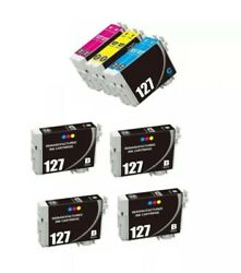 10 Count Amanbo Replacement Ink Cartridges for Epson 127  Black and Color #5 $24.00