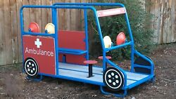 COMMERCIAL PLAYGROUND PLAYSET KIDS RIDE OM AMBULANCE CAR VEHICLE CLIMBER DAYCARE