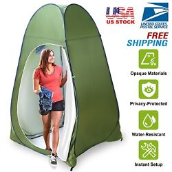 Outdoor Pop Up Privacy Tent Shower Toilet Tent Sun Shelter Camp w Carry Bag USA $36.99