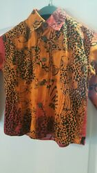 Authentic Versace Young Designer Boys Orange Age 4 Dress Shirt Top Kids