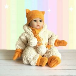 Handmade Fox Baby Winter Outfit $65.00