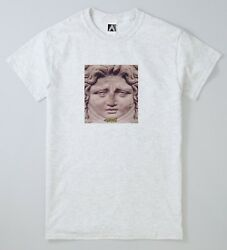 Mood Angel Statue Snap Story Tee Funny Novelty Religious Jesus LOL Top GBP 10.65