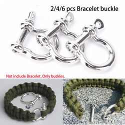 Survival Rope Paracords O-Shaped Shackle Buckle Paracord Bracelets accessories