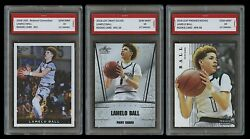 3 LOT LAMELO BALL 2018 LEAF SILVER PREMIER NATIONAL 1ST GRADED 10 ROOKIE CARD $62.99