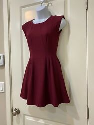 Topshop Red Burgundy Cocktail Evening US 2 Xs Petite $24.99