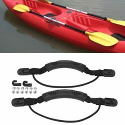 2PC Kayak Canoe Boat Side Mount Carry Handle With Bungee Cord Screws Accessories $10.44