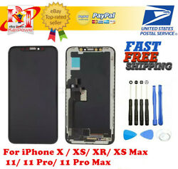 US iPhone X XS XR Max 11 Pro OLED LCD Display Touch Screen Digitizer Replacement $50.99