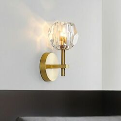 Crystal Wall Lamps Modern Minimalist Wrought Iron Gold Interior Decoration $71.24