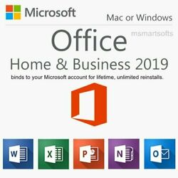 Microsoft Office Home and Business 2019 for Windows Mac 1 User $71.98