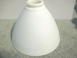 Vintage Milk Glass Globe Torchiere Floor Lamp Shade Waffle Pattern 8quot; $27.00