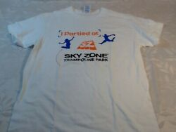 Sky Zone Trampoline Park Bright White T Shirt New Adult Small $11.99