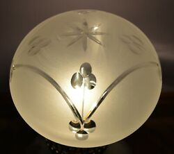 VINTAGE FROSTED GLASS SHADE GLOBE $10.95