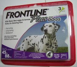 Frontline Plus For Large Dogs 45 to 88 lbs 3 Month Flea amp; Tick Treatment NEW $25.84