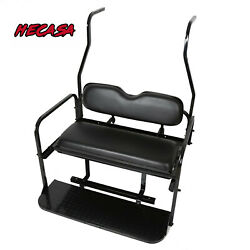 Folding Rear Flip Back Seat Kit For 2000-2013 Club Car Golf Cart DS Black $269.50