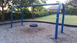COMMERCIAL ARCH POST PLAYGROUND TIRE SWING SWIVEL SPINS SWINGSET PLAYSET PARK