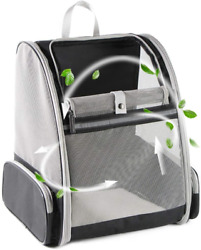 Texsens Innovative Traveler Bubble Backpack Pet Carriers for Cats and Dogs Grey $31.01