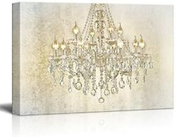 wall26 Chandelier on Vintage Background Canvas Art Wall Decor $35.19