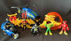 Imaginext BATMAN helicopter Motorcycle Robin ATV Electro Flash $27.99