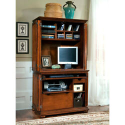 Distressed Warm Oak Desk and Hutch Combo by Home Styles $219.00